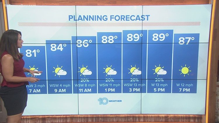 10 Weather: Saturday morning forecast; June 12, 2021