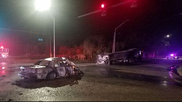 1 person dead, another injured in fiery Polk County crash