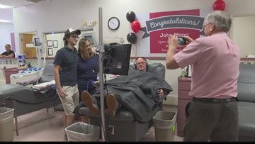 Clearwater man donates his 100th gallon of blood