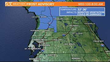 Frost advisory issued for Citrus, Hernando counties
