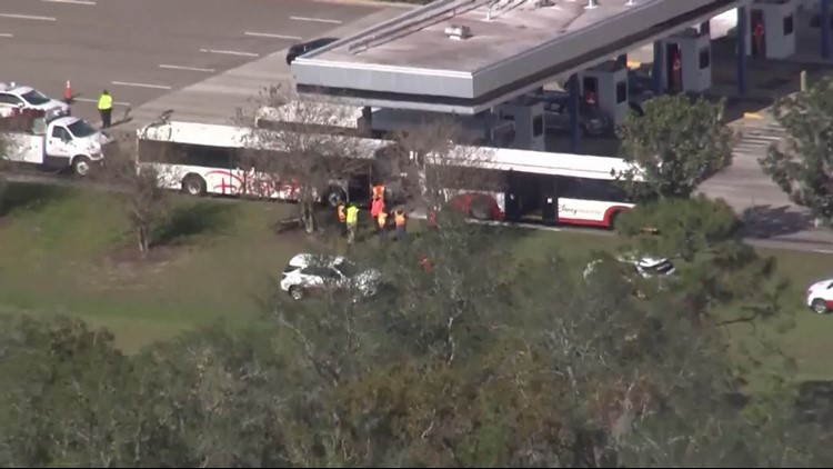 15 people suffer minor injuries when 2 Disney buses collide near Epcot