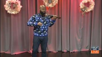 Tampa violinist previews Jingle Bell Bazaar