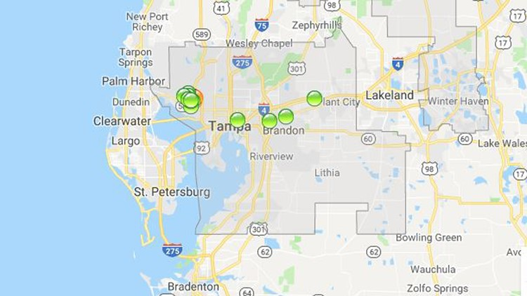 Nearly 5 000 Customers Without Power In Hillsborough County Wtsp Com