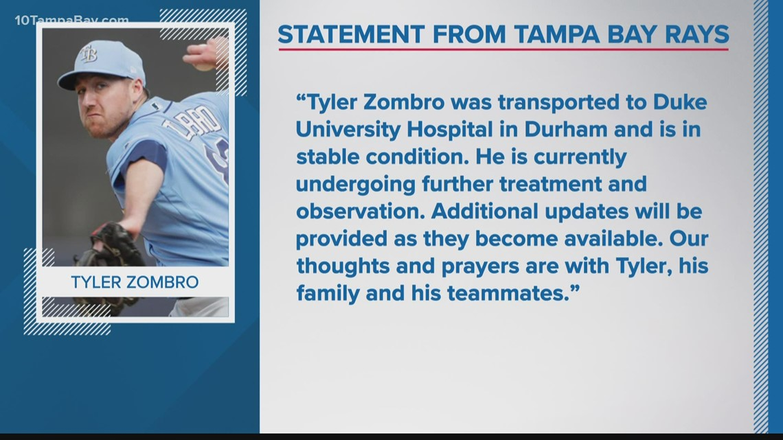 Minor league pitcher in Rays organization hit in head by liner, game called off