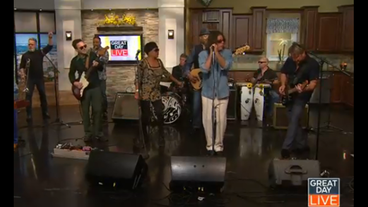 The Black Honkeys rock out the Great Day Live set