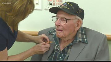 World War II veteran finally received 'overdue' medals more than 70 years after serving