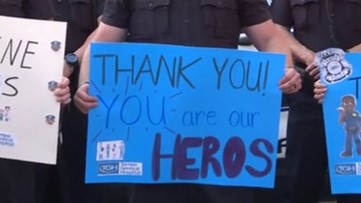 Tampa Police Department salutes health care workers on the coronavirus front linesi