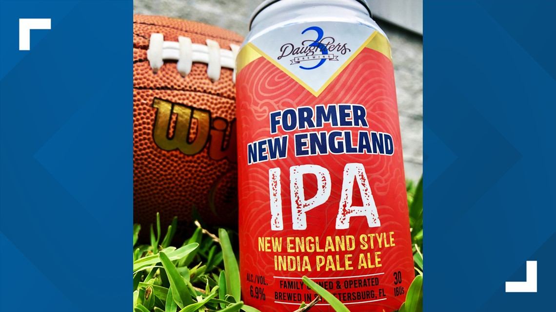 3 Daughters launches 'Former New England IPA' in honor of Bucs' Brady, Gronk