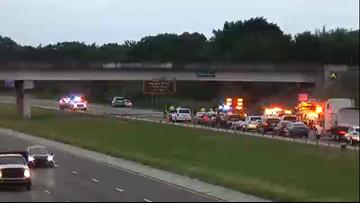 Crane slams into I-75 underpass