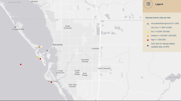 1-4 red tide returns map