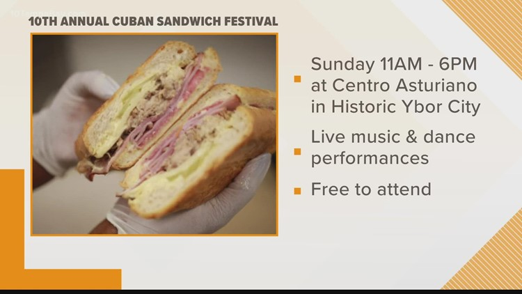 Enjoy free concerts and the 10th Annual Cuban Sandwich festival this weekend