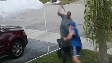 SCARY VIDEO: Man swings sword at Florida jogger