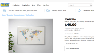 Ikea apologizes for selling world map without New Zealand ... on world map retail store, world map decor, world map canvas ikea, world map medieval times,