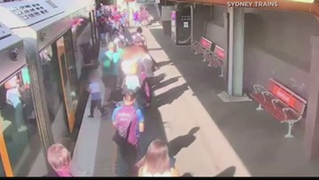 Wow Moments: Boy saved after falling under train