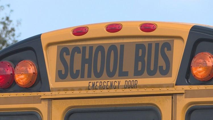 Police says no kids on board school bus involved in minor crash