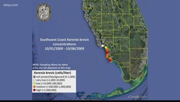 Red tide inches up Florida's Gulf Coast