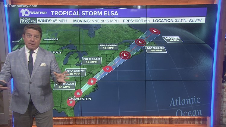 10 Weather: Elsa on track to weaken as it moves up the coast