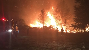 2-acre brush fire burns near Pasco County neighborhood