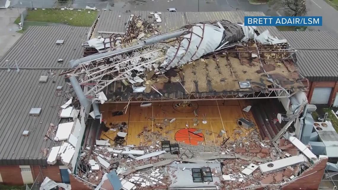 Gas Prices Miami >> Drone flies through Panama City middle school gym damaged by Hurricane Michael   wtsp.com