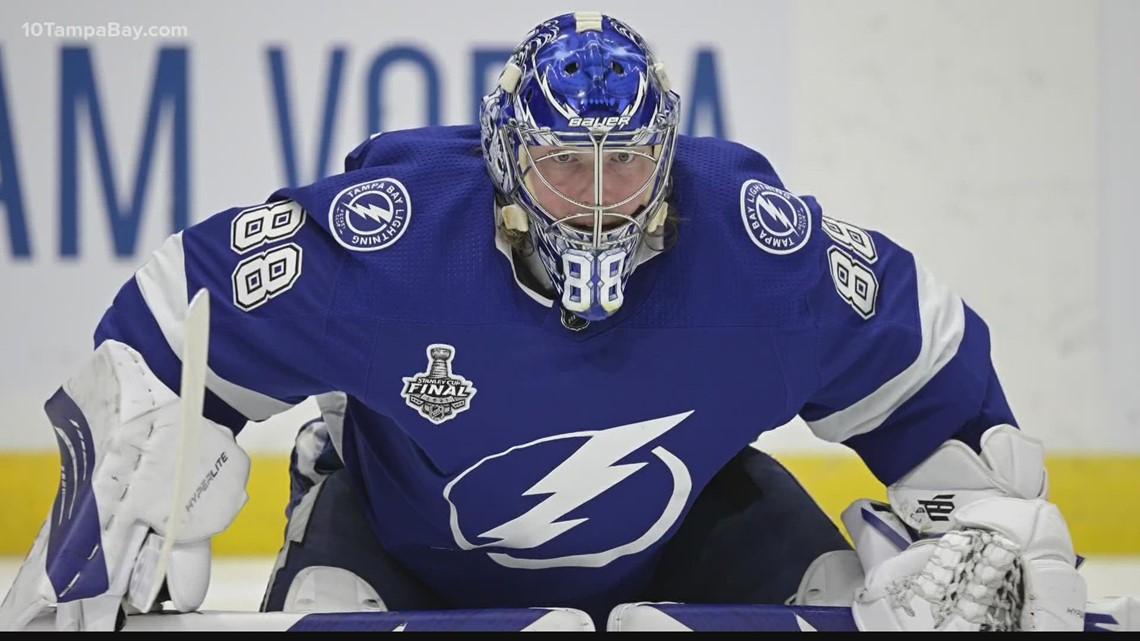Canadian couple creates designs for Lightning star Andrei Vasilevskiy's signature helmets