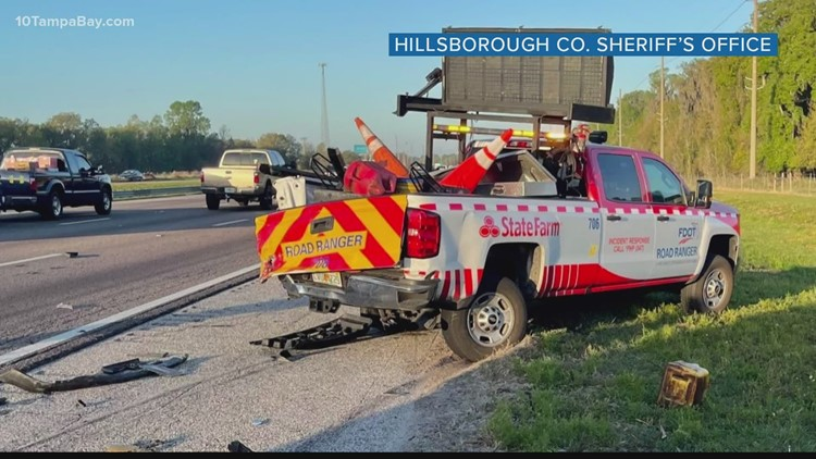 Man cited for crash with Florida Road Ranger truck