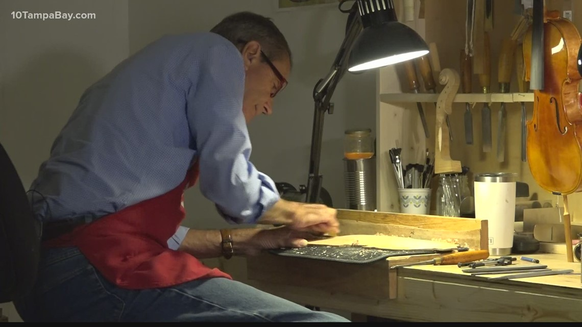 St. Pete man still crafting violins by hand after a half-century in music