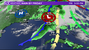 Florida's next disturbance on track to bring storms Friday