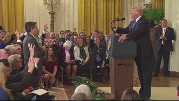 CNN reporter Jim Acosta has press credential suspended after testy exchange with President Trump
