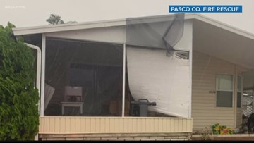Widespread wind damage in Pasco County