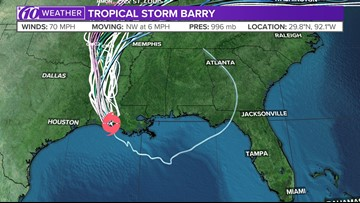 Tropical Storm Barry: Spaghetti models, location and more