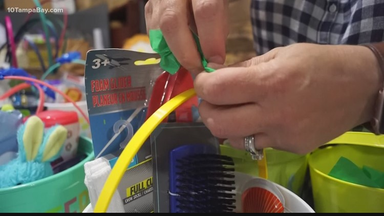 Student's senior project leads to 500 Easter baskets for Tampa children