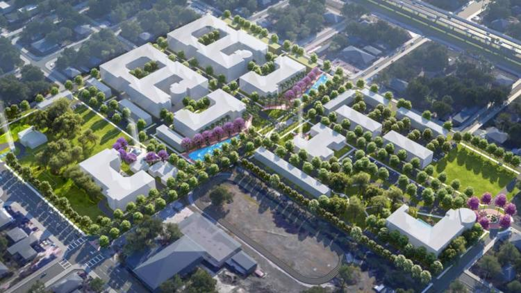 Robles Park redevelopment plan calls for cemetery memorial, more affordable housing in Tampa Heights