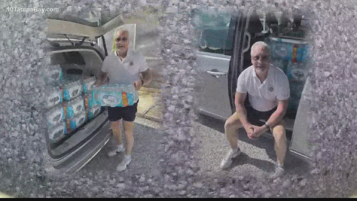 Tampa man delivers water to Surfside first responders on his 62nd birthday