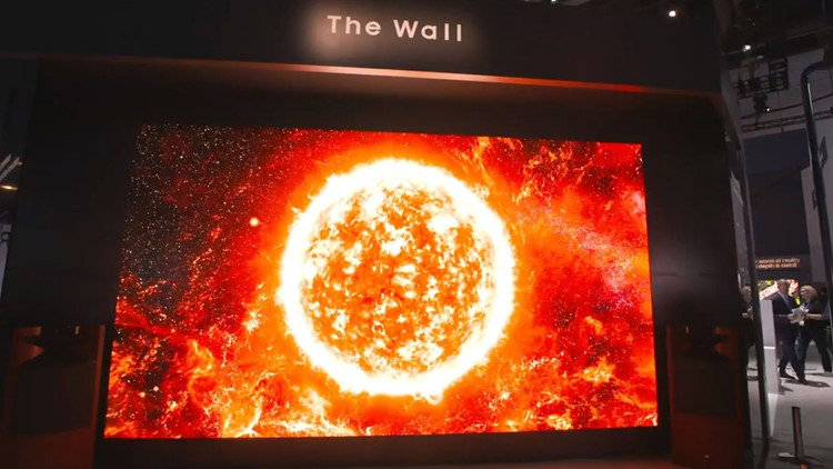America Meet The Wall Samsung Unveils A 219 Inch Tv At First Look Ces Wtsp Com
