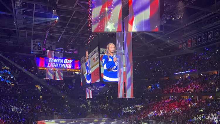 'She wants everyone to please get the vaccine': Lightning's national anthem singer battling COVID-19