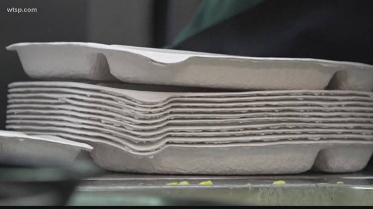 Pinellas County schools switch from styrofoam to paper products in the lunchroom