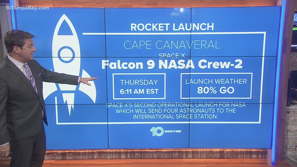 Gusty winds only weather concern for mission to send 4 astronauts into space Thursday