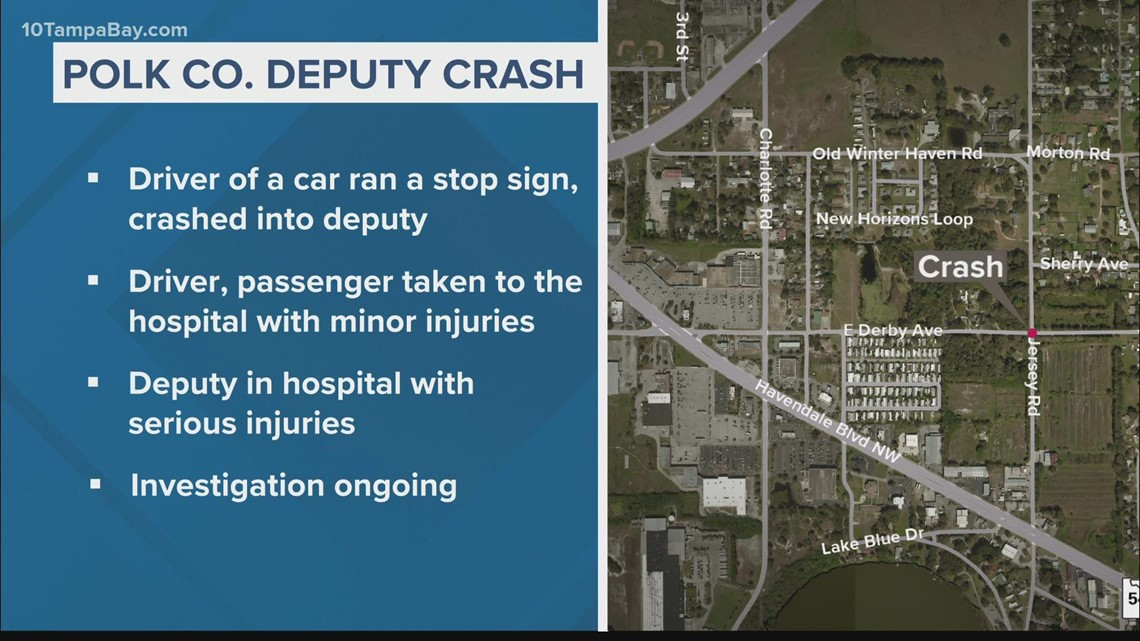 Polk County deputy involved in crash after driver reportedly drives through stop sign