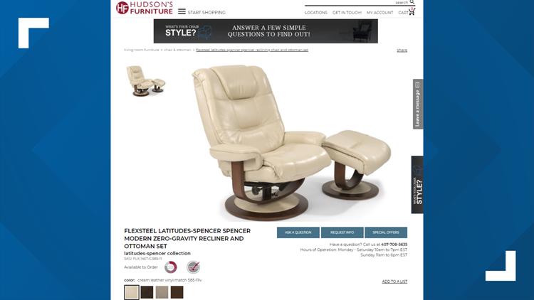 Hudson's Furniture chair ad