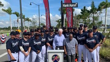 Atlanta Braves name street after Hank Aaron in North Port