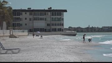 Weather delays re-nourishment at Lido Beach