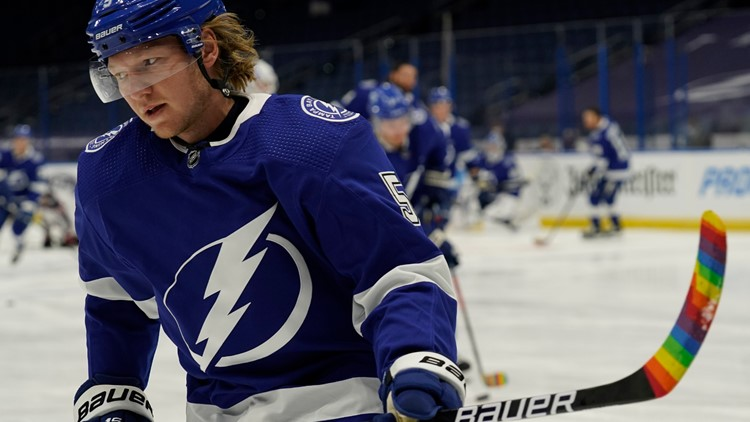 Tampa Bay Lightning hosts Pride Night, with raffle proceeds donated to charity