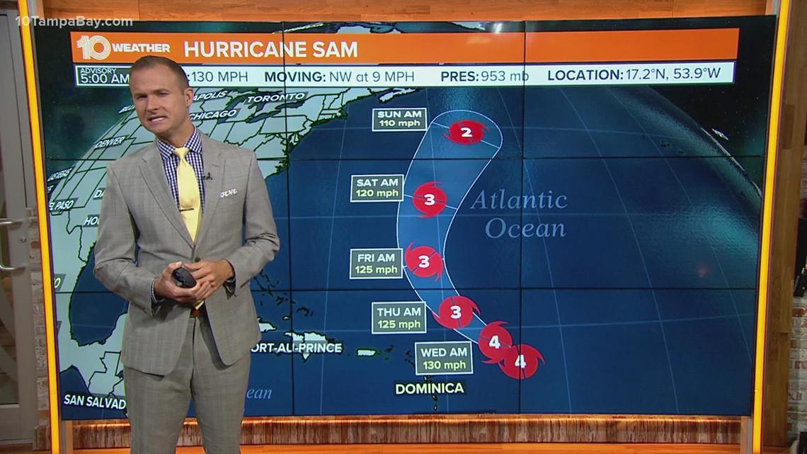 NHC: Hurricane Sam restrengthens to a Category 4 storm