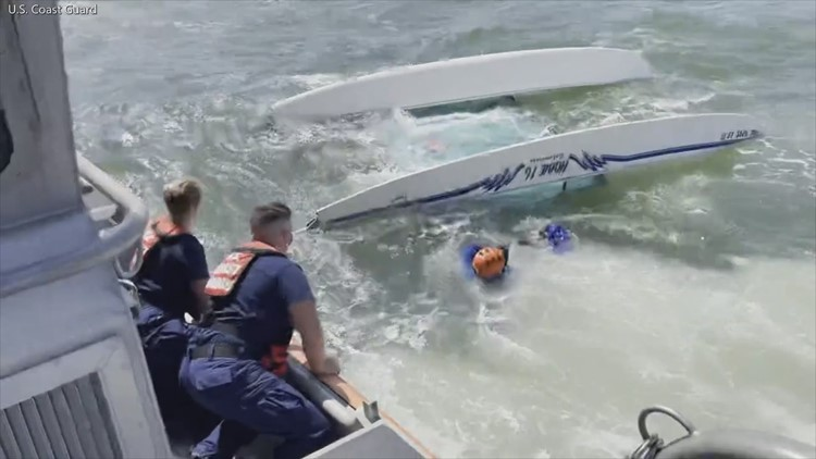 US Coast Guard rescues man from capsized boat off Pine Key Island
