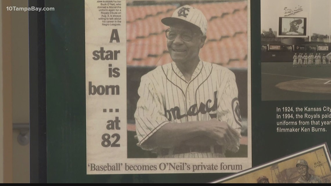 Sarasota exhibit honors the career of former baseball player Buck O'Neil