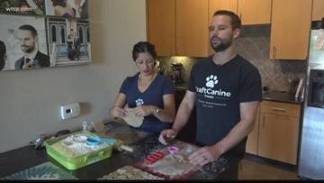 Local man gives up career to make dog treats