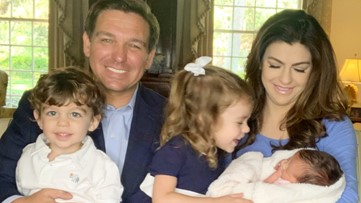 Gov. DeSantis and wife Casey welcome third child