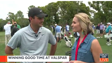 Tee time with Patrick Reed