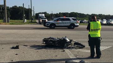 Motorcyclist slammed into semi at up to 100 mph, deputies say
