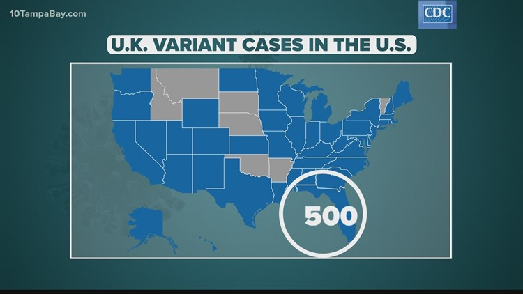 Florida scientists say U.K. variant could spark a 4th wave of COVID-19 infections in the state